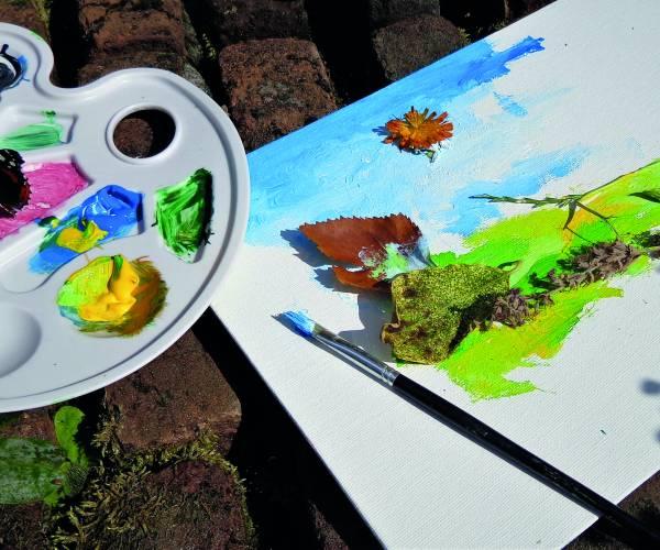 Kinderworkshop Schilderen in de Vlindertuin