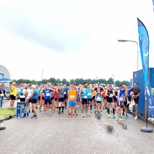 Sportvereniging Friesland trof het, ondanks de slechte weersvoorspelling,156 deelnnemers aan de EE-loop in Stiens.