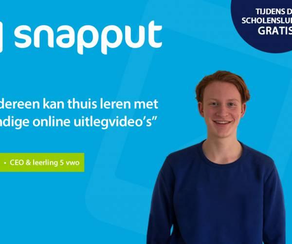 SNAPPUT: 1.000 uitlegvideo's voor het voortgezet onderwijs per direct gratis beschikbaar