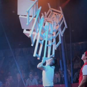 Circus Bossle voor het eerst in Stiens