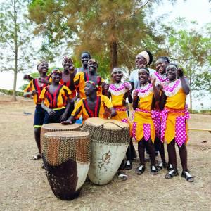 Oegandees kinderkoor in Talant Stiens