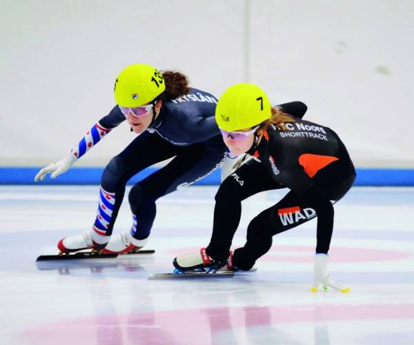 Stiensers in prijzen bij NK shorttrack Junioren