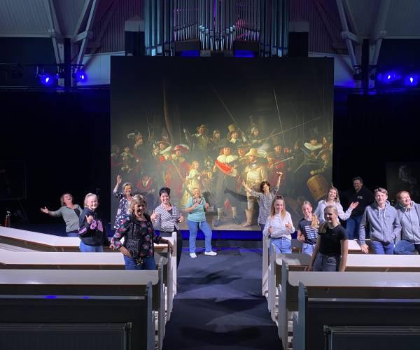 Nachtwacht360 tot 24 juli te zien in Theaterkerk Nes