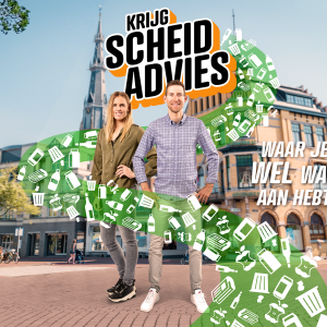 Bauke Mollema en Marit Bouwmeester vloggen voor minder afval in Friesland en Groningen