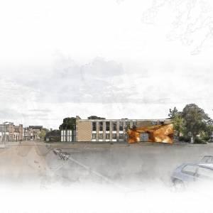 Mogelijk Multifunctioneel Centrum met bibliotheek  en appartementen in voormalig gemeentehuis Stiens