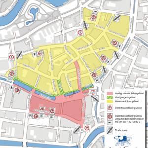 Autoluwe gebied in centrum Leeuwarden gaat maandag 20 september in