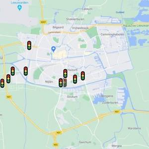 Slimme verkeerslichten in Leeuwarden in werking