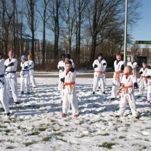 Unieke buitentraining jeugdleden Karatevereniging Iryoku