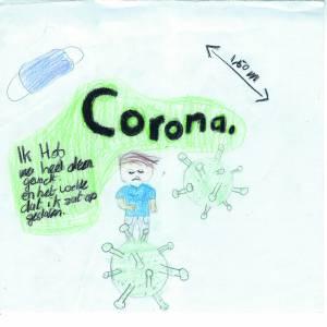 Kidskunst over corona in Berltsum